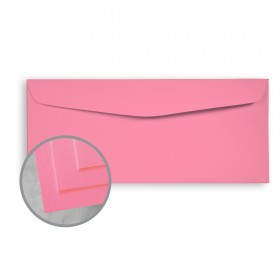 BriteHue Ultra Pink Envelopes - No. 10 Commercial (4 1/8 x 9 1/2) 60 lb Text Semi-Vellum 500 per Box