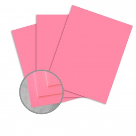 BriteHue Ultra Pink Card Stock - 26 x 40 in 65 lb Cover Vellum 500 per Carton