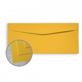 BriteHue Yellow Envelopes - No. 10 Commercial (4 1/8 x 9 1/2) 60 lb Text Semi-Vellum  30% Recycled 500 per Box