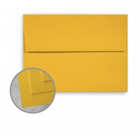 BriteHue Yellow Envelopes - A6 (4 3/4 x 6 1/2) 60 lb Text Semi-Vellum  30% Recycled 250 per Box