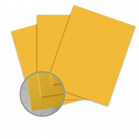 BriteHue Yellow Card Stock - 11 x 17 in 65 lb Cover Semi-Vellum  30% Recycled 250 per Package