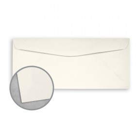 Canaletto Grana Grossa Bianco Envelopes - No. 10 Commercial (4 1/8 x 9 1/2) 85 lb Text Felt  20% Cotton 400 per Box