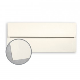 Canaletto Grana Grossa Bianco Envelopes - No. 10 Square Flap (4 1/8 x 9 1/2) 85 lb Text Felt  20% Cotton 400 per Box