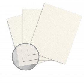 Canaletto Grana Grossa Bianco Card Stock - 27 1/2 x 39 3/8 in 78 lb Cover Felt  20% Cotton 100 per Package