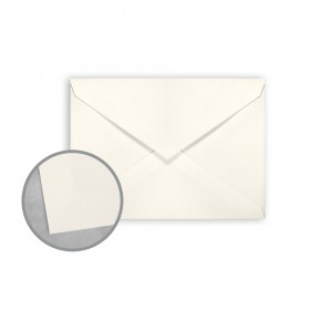 Canaletto Grana Grossa Bianco Envelopes - Lee (5 1/4 x 7 1/4) 85 lb Text Felt  20% Cotton 200 per Box