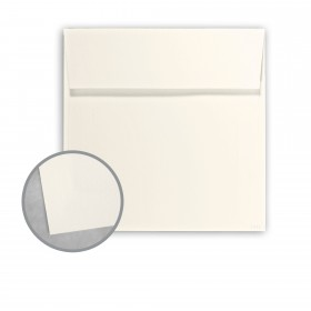 Canaletto Grana Grossa Bianco Envelopes - No. 6 1/2 Square (6 1/2 x 6 1/2) 85 lb Text Felt  20% Cotton 200 per Box