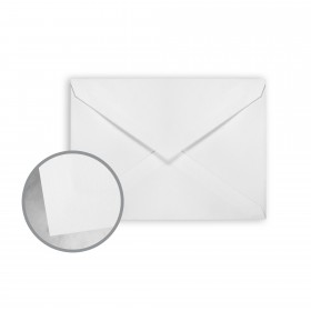 Canaletto Grana Grossa Premium White Envelopes - Lee (5 1/4 x 7 1/4) 85 lb Text Felt  20% Cotton 200 per Box