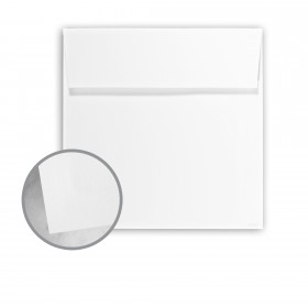Canaletto Grana Grossa Premium White Envelopes - No. 6 1/2 Square (6 1/2 x 6 1/2) 85 lb Text Felt  20% Cotton 200 per Box