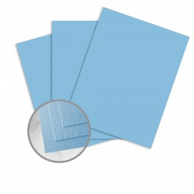 Carnival Blue Card Stock - 35 x 23 in 90 lb Cover Cordwain Embossed  30% Recycled 500 per Carton