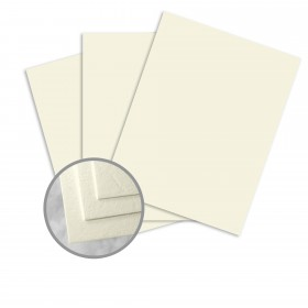 Carnival Ivory Card Stock - 35 x 23 in 90 lb Cover Cordwain Embossed  30% Recycled 500 per Carton