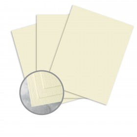 Carnival Ivory Card Stock - 23 x 35 in 80 lb Cover Linen  30% Recycled 600 per Carton