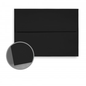 Carnival New Black Envelopes - A8 (5 1/2 x 8 1/8) 70 lb Text Vellum  30% Recycled 250 per Box