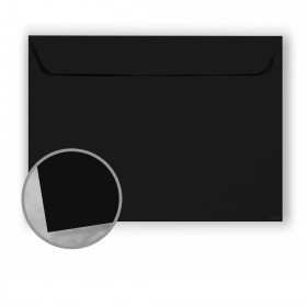 Carnival New Black Envelopes - No. 9 1/2 Booklet (9 x 12) 70 lb Text Vellum  30% Recycled 500 per Carton