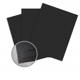 Carnival New Black Card Stock - 26 x 40 in 90 lb Cover Cordwain Embossed  30% Recycled 400 per Carton