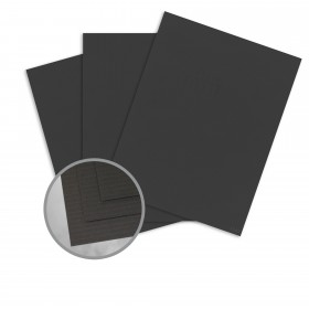 Carnival New Black Card Stock - 26 x 40 in 80 lb Cover Groove Embossed  30% Recycled 400 per Carton