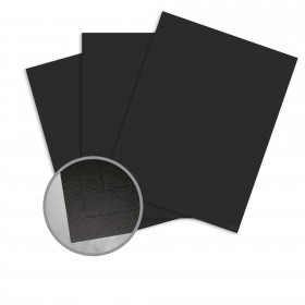 Carnival New Black Card Stock - 35 x 23 in 90 lb Cover Hopsack Embossed  30% Recycled 500 per Carton