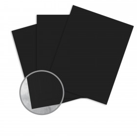 Carnival New Black Card Stock - 26 x 40 in 130 lb Cover DT Linen  30% Recycled 300 per Carton
