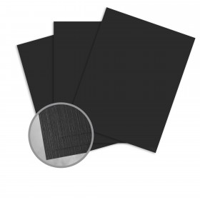 Carnival New Black Card Stock - 26 x 40 in 80 lb Cover Premium Linen  30% Recycled 400 per Carton