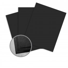 Carnival New Black Card Stock - 35 x 23 in 80 lb Cover Vellum  30% Recycled 600 per Carton