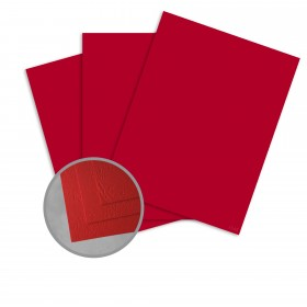 Carnival Red Card Stock - 26 x 40 in 90 lb Cover Cordwain Embossed  30% Recycled 400 per Carton