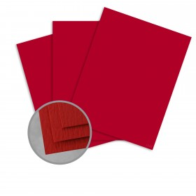 Carnival Red Card Stock - 35 x 23 in 80 lb Cover Felt  30% Recycled 600 per Carton