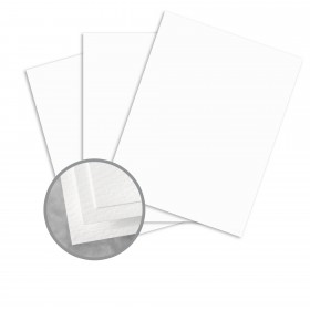 Carnival Stellar White Card Stock - 26 x 40 in 130 lb Cover Felt 250 per Carton