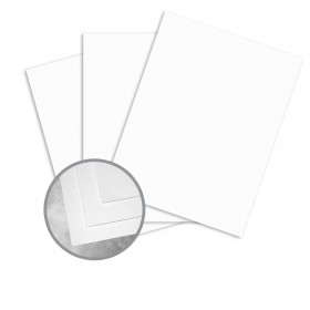 Carnival Stellar White Card Stock - 26 x 40 in 90 lb Cover Hopsack Embossed 400 per Carton