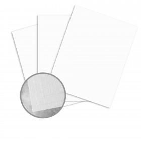 Carnival Stellar White Card Stock - 26 x 40 in 100 lb Cover Premium Linen 300 per Carton