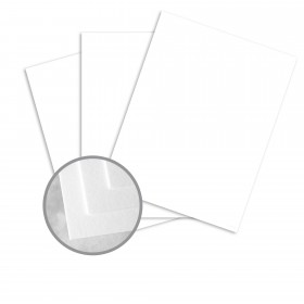 Carnival Stellar White Card Stock - 8 1/2 x 11 in 80 lb Cover Vellum 250 per Package