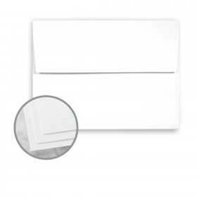 Carnival White Envelopes - A7 (5 1/4 x 7 1/4) 70 lb Text Felt  30% Recycled 250 per Box
