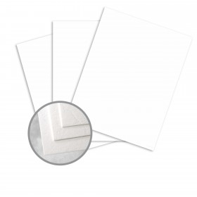 Carnival White Card Stock - 26 x 40 in 90 lb Cover Cordwain Embossed  30% Recycled 400 per Carton