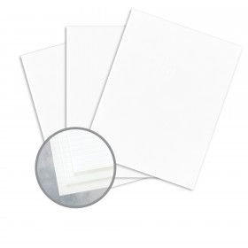 Carnival White Card Stock - 26 x 40 in 160 lb Cover DT Groove  30% Recycled 250 per Carton