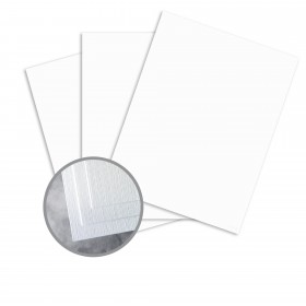 Carnival White Card Stock - 26 x 40 in 130 lb Cover DT Linen  30% Recycled 300 per Carton