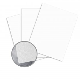 Carnival White Card Stock - 26 x 40 in 80 lb Cover Premium Linen  30% Recycled 400 per Carton