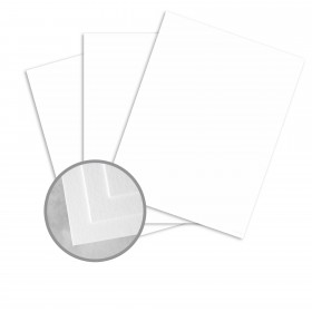 Carnival White Card Stock - 26 x 40 in 65 lb Cover Vellum  30% Recycled 500 per Carton