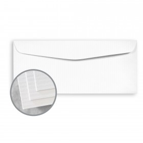 CLASSIC COLUMNS Avalanche White Envelopes - No. 10 Commercial (4 1/8 x 9 1/2) 24 lb Writing Embossed Watermarked 500 per Box