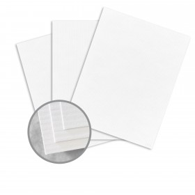 CLASSIC COLUMNS Avalanche White Card Stock - 12 x 18 in 80 lb Text Lineal Digital 250 per Package