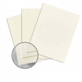 CLASSIC COLUMNS Classic Natural White Card Stock - 18 x 12 in 100 lb Cover Lineal Digital 125 per Package