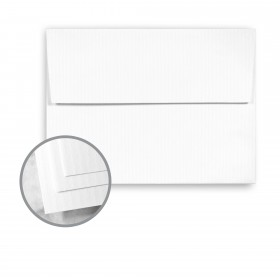 CLASSIC COLUMNS Recycled 100 Bright White Envelopes - A2 (4 3/8 x 5 3/4) 80 lb Text Linear Embossed  100% Recycled 250 per Box