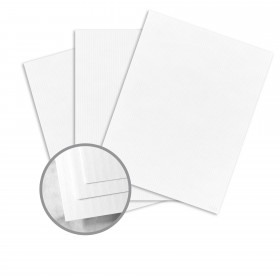 CLASSIC COLUMNS Recycled 100 Bright White Card Stock - 26 x 40 in 80 lb Cover Linear Embossed  100% Recycled 300 per Carton
