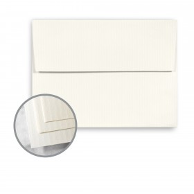 CLASSIC COLUMNS Recycled 100 Natural White Envelopes - A2 (4 3/8 x 5 3/4) 80 lb Text Linear Embossed  100% Recycled 250 per Box