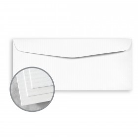 CLASSIC COLUMNS Solar White Envelopes - No. 10 Commercial (4 1/8 x 9 1/2) 24 lb Writing Embossed Watermarked 500 per Box