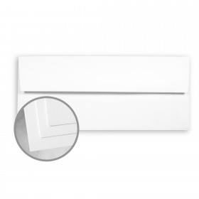 CLASSIC CREST Avalanche White Envelopes - No. 10 Square Flap (4 1/8 x 9 1/2) 24 lb Writing Smooth Watermarked 2500 per Carton