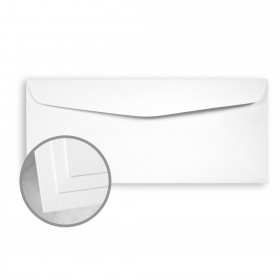 CLASSIC CREST Avalanche White Envelopes - No. 10 Commercial (4 1/8 x 9 1/2) 80 lb Text Super Smooth 500 per Box