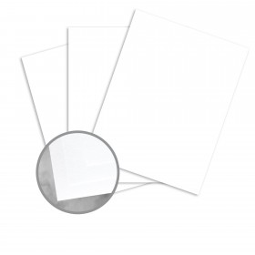 CLASSIC CREST Avalanche White Card Stock - 8 1/2 x 11 in 80 lb Cover Eggshell 250 per Package