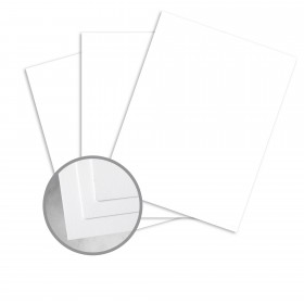 CLASSIC CREST Avalanche White Card Stock - 18 x 12 in 80 lb Cover Smooth Digital 125 per Package