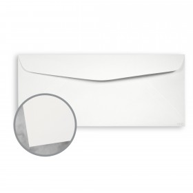 CLASSIC CREST Bare White Envelopes - No. 10 Commercial (4 1/8 x 9 1/2) 80 lb Text Eggshell 500 per Box
