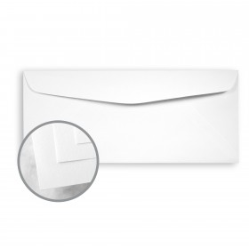 CLASSIC CREST Recycled 100 Bright White Envelopes - No. 10 Commercial (4 1/8 x 9 1/2) 80 lb Text Smooth  100% Recycled 500 per Box
