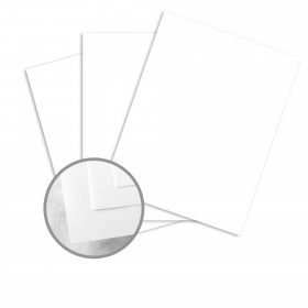 CLASSIC CREST Recycled 100 Bright White Card Stock - 35 x 23 in 80 lb Cover Smooth  100% Recycled 500 per Carton