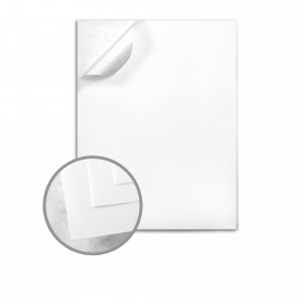 CLASSIC CREST Recycled 100 Bright White Labels - 8 1/2 x 11 Full Sheet 70 lb Text Smooth  100% Recycled 100 per Package